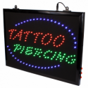 Ripustettava Piercing LED  studio kyltti EU