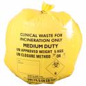 50kpl Yellow Clinical Waste Sacks