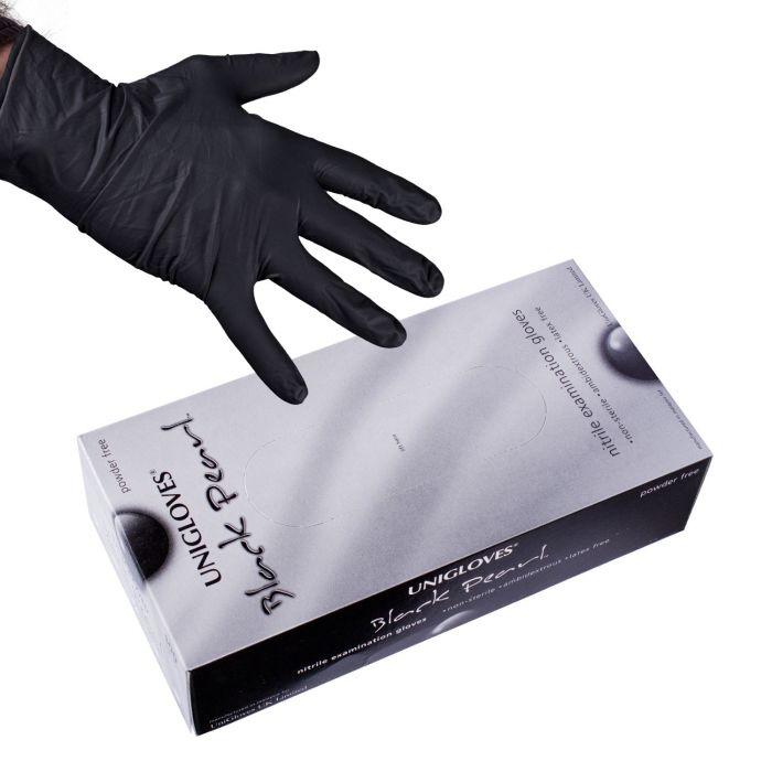 100kpl  Uniglove Black Pearl  nitriili käsineet