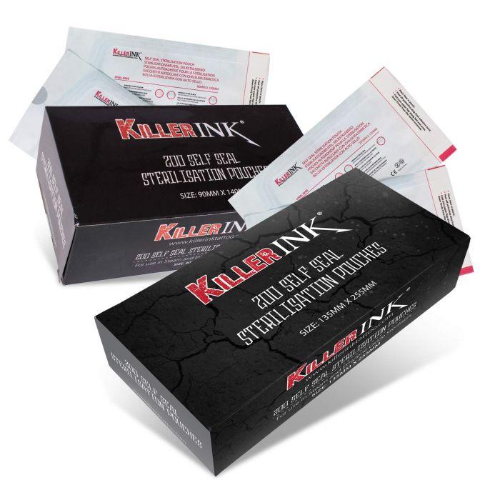 200  Killer Ink   autoklaavi-pussit itseliimautuvalla tarralla