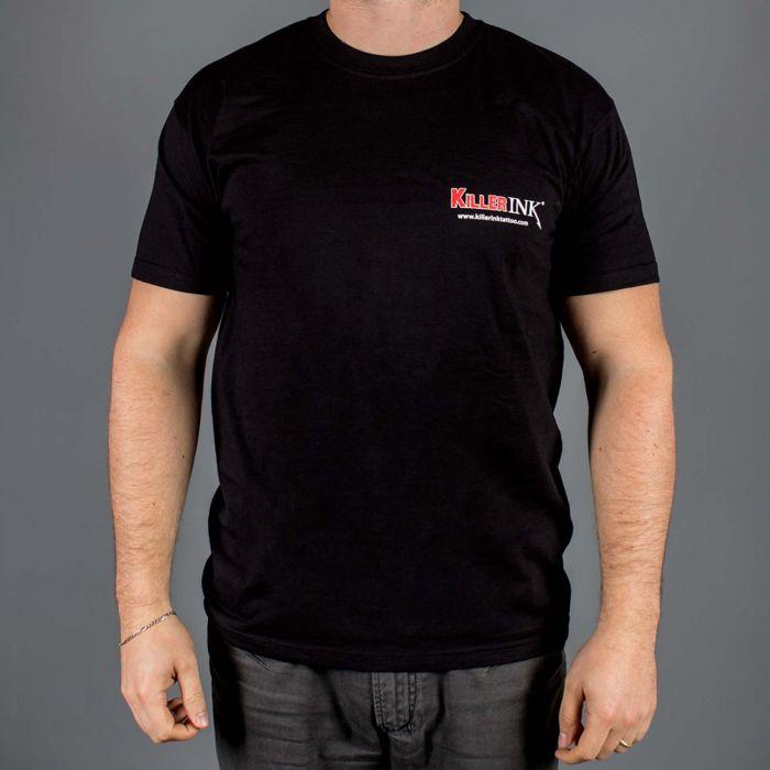Killer Ink  pyöreä kaulus T-paita  MUSTA
