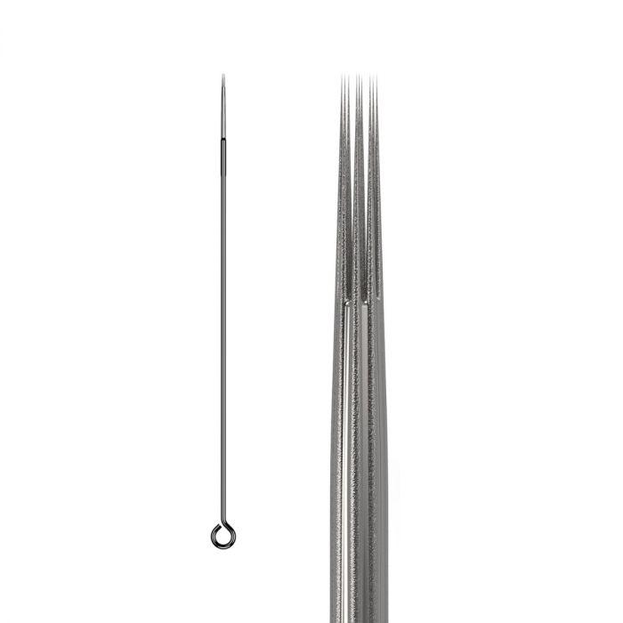 50kpl KWADRON neulat 0.35mm  LONG TAPER BUGPIN TEXTURED - Round Liner